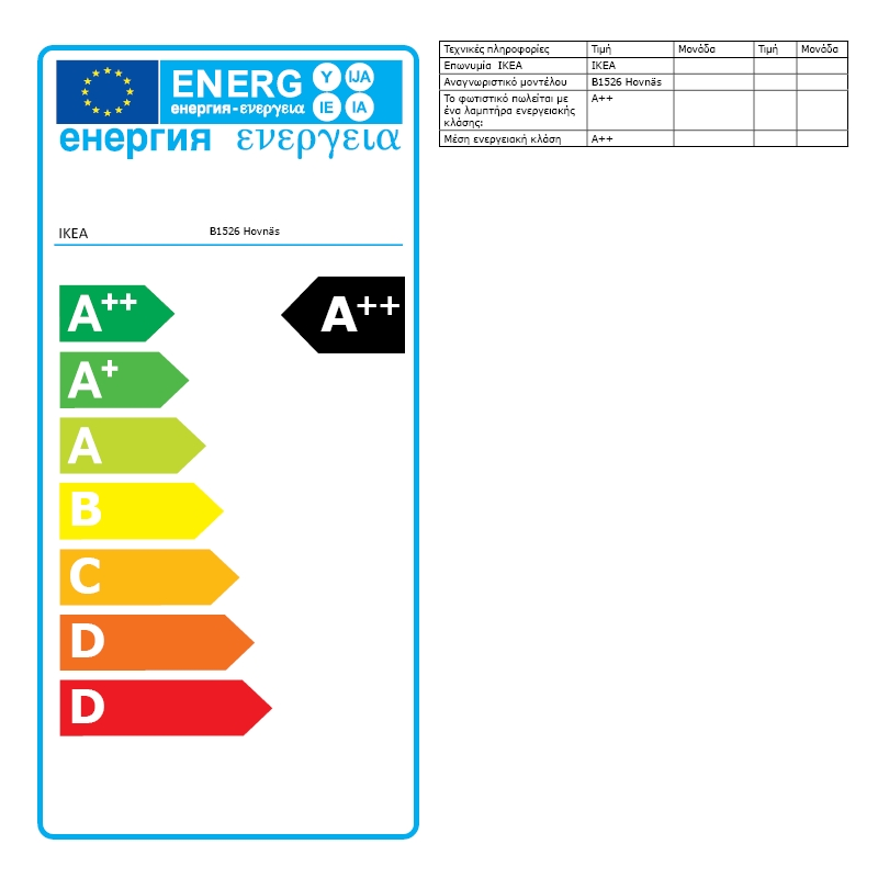 Energy Label Of: 70388856